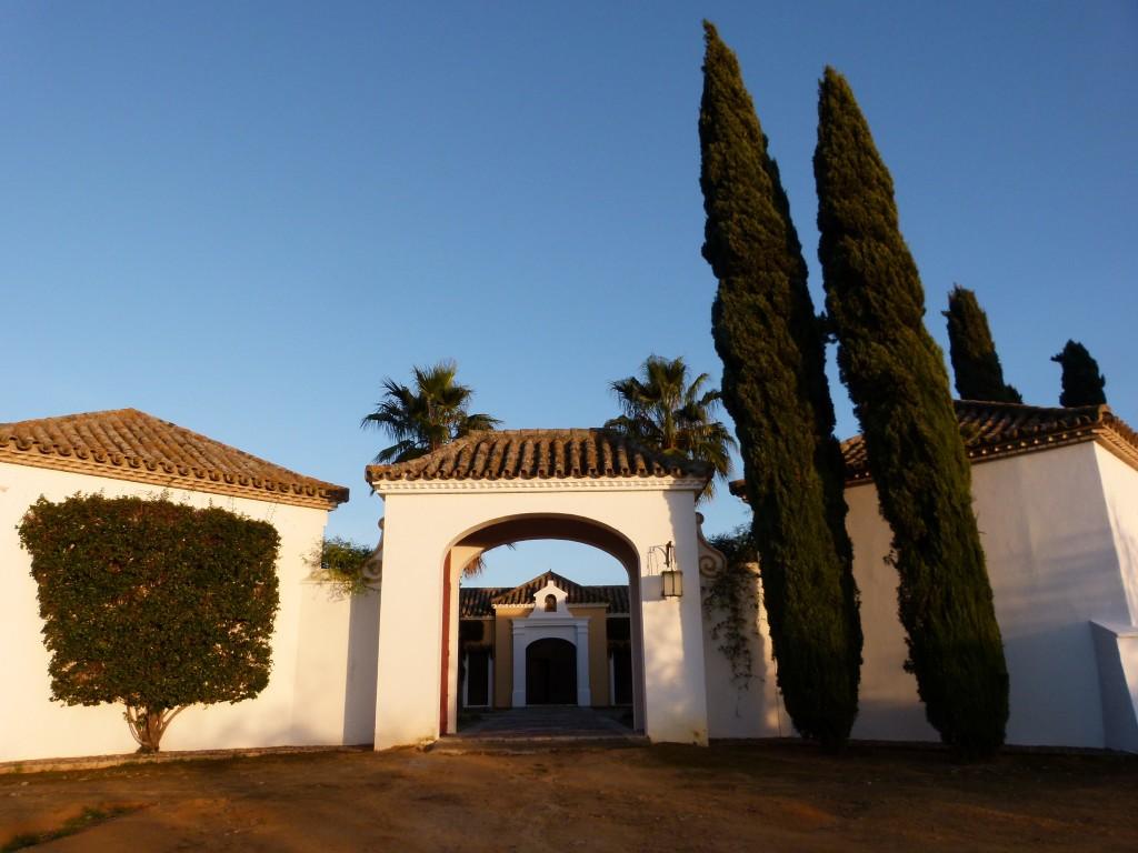 Entrada Hacienda el Burgo lambel catering