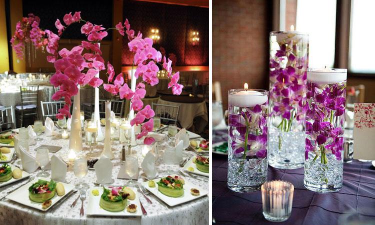 centros florales para bodas según colores - lambel catering